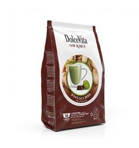 Box Dolce Vita PISTACHIO COFFEE A Modo Mio®* compatible 128cps.