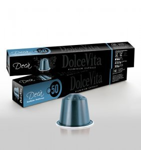 Box Dolce Vita DECAFFEINATO Nespresso®* Aluminium compatible 200cps.