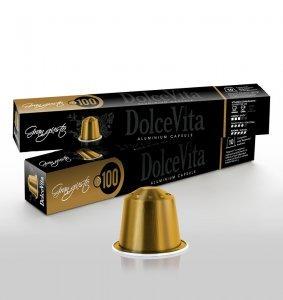 Box Dolce Vita GRAN GUSTO Nespresso®* Aluminium compatible 200cps.